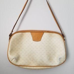 Vintage Gucci White Mini Monagram Shoulder Bag